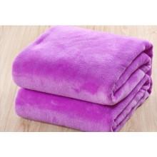 Solid Violet Beautiful Coral Fleece Blanket, Baby Blanket