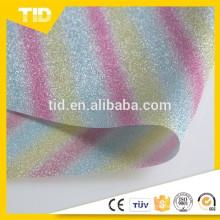 Película do brilho / faísca do PVC para sapatas