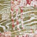 HEC popular no lenço floral verificado relativo à promoção dos EUA com poliéster