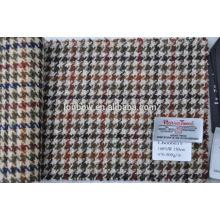 custom woven 100% wool tweed fabric for making bags