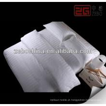 Branco 100% algodão sateen hotel vida folha conjuntos
