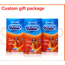 China manufacturer customized gift box for Dulex condom (sexy toy packaging)