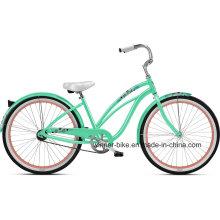 Classic Steel Frame 26 ′′ Lady′s Beach Cruiser Beach Bike