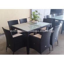 Muebles de jardín / de mimbre - Juego de comedor 1 + 8