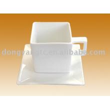 Taza de café de cerámica de la forma cuadrada de la fuente al por mayor directa