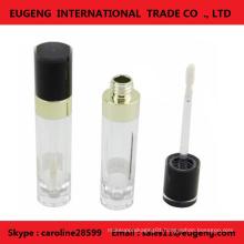 Fashionable plastic cylinder lip gloss bottle