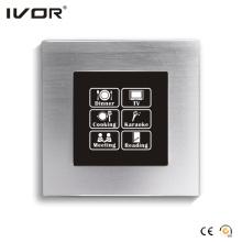 Netzwerkbeleuchtung Schalter Touch Panel mit Szenensteuerung Aluminiumrahmen (HR1000-AL-S-CAN)
