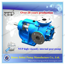 High viscosity internal gear China stainless steel NYP double impeller pump
