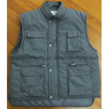 Winter gepolsterte Polsterung Tc Polyester / Baumwolle Körperwärmer Arbeitskleidung Arbeit ärmellose Weste (BW15)