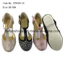 Diamante princesa zapatos zapatos de baile de los niños zapatos de fiesta (ff0724 -13)
