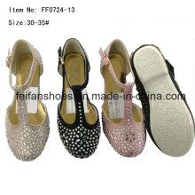 Sapatos de diamante princesa crianças sapatos de dança sapatos de festa (ff0724 -13)