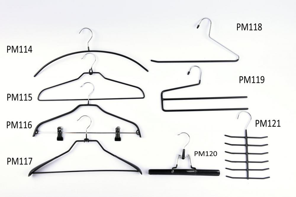 Metal Hangers Pvc Shiny Finish