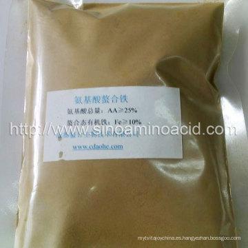 Grado de alimentación de quelatos de aminoácidos de hierro