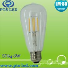 St64 6W Dimmable lâmpada incandescente