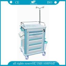 Conception simple médical équipement abs clinique d'urgence crash cart