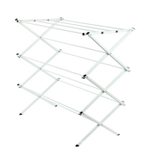 Folding Clothes Metal Drying Rack Laundry Indoor Garment Portable Hang Dryer