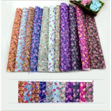 100% Polyester Fleur Design Nouvelle Arrivée Imprimé Tissu 80GSM Largeur 150cm