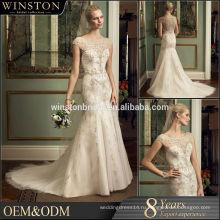 Alibaba новый дизайн seqiin кристалл свадебное платье русалка