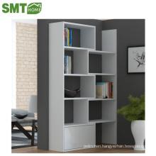 Modern white corner bookcase PB pretty China factory