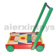 Wooden Blocks Cart with 36PCS Blocks (80024)