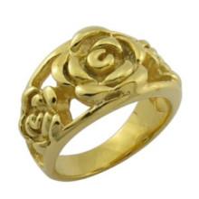 Anillo de la flor de Rose de la joyería del oro del diseño 18k de la manera