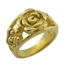 Fashion Design 18k Gold Jewelry Rose Flower Ring
