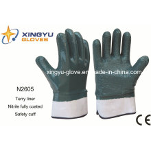 Terry Liner Nitrile Coated Safety Work Glove (N2605)