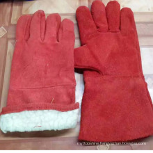 High Quality Red Safety Industrial Welding Working Gloves