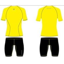 Camisas de manga curta sublimada estoque amarelo