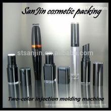2014 nuevo SanJin Dos colores de inyección de la máquina de lujo contenedores de cosméticos