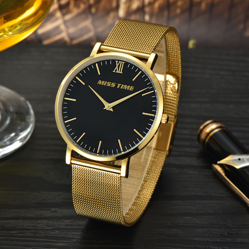 custom luxury case gold men watch