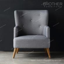 Mobilier d'habitation salon chaise simple accent chaises avec bras