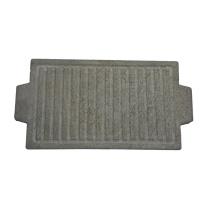 Natürliches reversibles Lavasteak Grill Steinplatte quadratisches Grillbrett