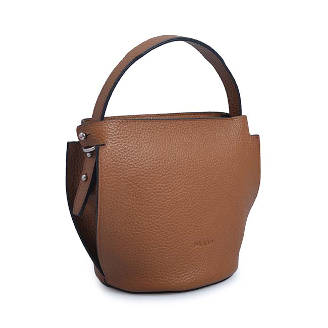 Genuine Leather Handbag Tote bag double color bucket bag