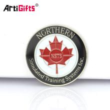 Monedas de oro de la hoja de arce canadiense de la decoración conmemorativa del recuerdo por encargo