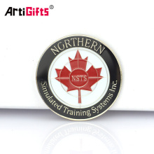 Custom made souvenir commemorative decoration safety canadian maple leaf gold coins