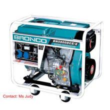 Générateur diesel refroidi à l'air à cadre ouvert Bn5800dce / E 5kw 186f