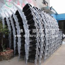 Cadeiras de alumínio preto em empilhamento Design (YC-A21-13)