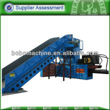 Hay press baling machine