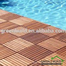 Plancher de bois extérieur de piscine en teck solide