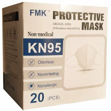 Disposable Nonwoven KN95 Folding Half 5-Ply Face Mask for Self Use