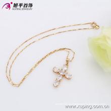 Xuping Fashion 18k colgante de cruz de circonio de lujo dorado (32315)
