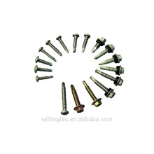 Customized Hex head self drilling screw with rubber wisher from manufacturer
