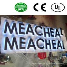 Muestra de acrílico de alta calidad de la carta de canal del LED