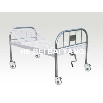 A-138 Bewegliches Alle Plastik-Sprayed Single Function Manual Krankenhausbett