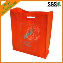 promotional die cut handle shoulder bag with long handle