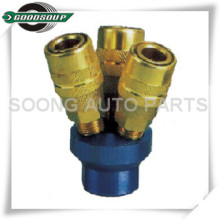 Multi-size Nitto Type Quick Couplings 3-way Air Quick Coupler