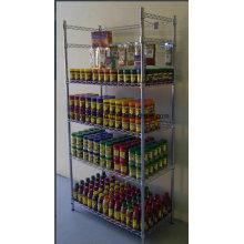 Prateleira de exibição de arame de metal revestido de epóxi para aplicação de mercado e showroom
