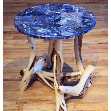 Mesa de jantar retangular de pedra de luxo