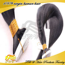 2015 Hot Sale Wholesale 100% Remy Virgin Cheap 7A Indian Tape Hair Extension